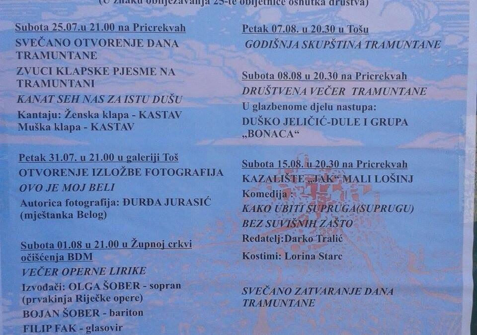 Saturday 15.08.2015 at 20.30 on Pricrekvah
